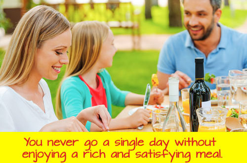 food freedom Eat Stop Eat And More Brad Pilon Bestsellers rich meal 500x330